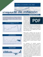 Reporte de Inflacion Setiembre 2010 Sintesis