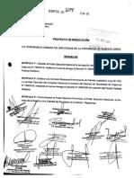 Proyecto de Resolución - Restitución del Fondo Sojero (Pinedo)