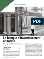 Wall Street - La banque d'investissement en forme (06/09/2018 L'AGEFI Hebdo)