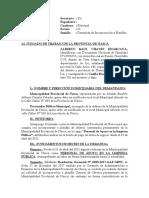 ESCRITO DE INGRESO A PLANILLA POR INCUMPLIMIENTO DE RESOLUCIÓN
