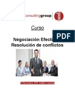 Curso Negociación Efectiva y Resolución de Conflictos- First Consulting Group