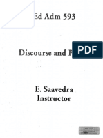 Discourse and Power. Saavedra 1995