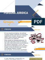 Exposicion - Persona Juridica - Introduccion Al Derecho