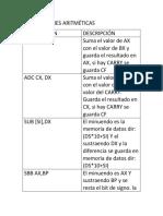 instrucciones Aritméticas.docx