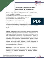 Folder Contratação, Fiscalização e Auditoria de Obras Públicas e Serviços de Engenharia