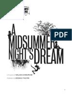 Sogno Di Una Notte Di Mezza Estate - Copione Italiano