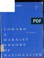 Toward a Marxist Theory of Nationalism