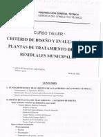 Criterio de diseño y evaluación de plantas de tratamiento en aguas residuales municipales - CONAGUA.pdf