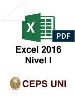 Manual Excel Nivel 1 - 2016