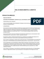 La ANMAT prohibió la venta de de un producto médico de origen tucumano