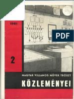 MVMT Közlemény 1981