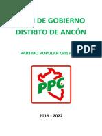 Plan de Gobierno Ppc Ancón