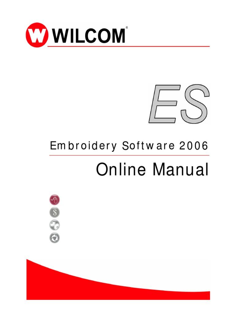 Wilcom 2006 User Manual Control Key Embroidery