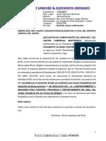 Escrito Nueva Notificacion Santa Monterrico