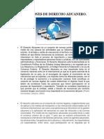 10 autores diferentes para Definiciones Derecho Aduanero