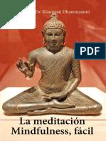 La Meditación Mindfulness Fácil - Khammai Dhammasami.pdf