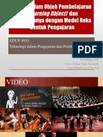 Media Dalam Objek Pembelajaran (Learning Object)