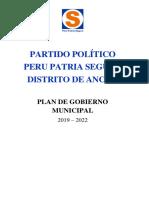 Plan de Gobierno PPS Ancón
