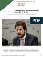 Leniência Na CVM Só Vai 'Decolar' Se Ex...Ração Com MPF, Diz Diretor - JOTA Info