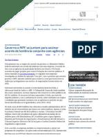 ConJur - Governo e MPF Se Juntam Para Assinar Acordo de Leniência Conjunto