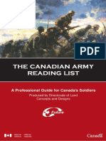 Canadian Army Reading List