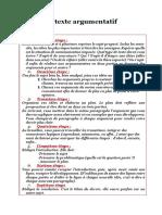 1 Le Texte Argumentatif Expression Ecrite