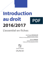 DCG 1 - Fiches d'Introduction Au Droit - 2016 - 2017 - 7e Édition - Dunod (French)