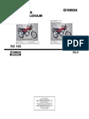 Yamaha Rx100 Part Catalog | Transportation Engineering ... on