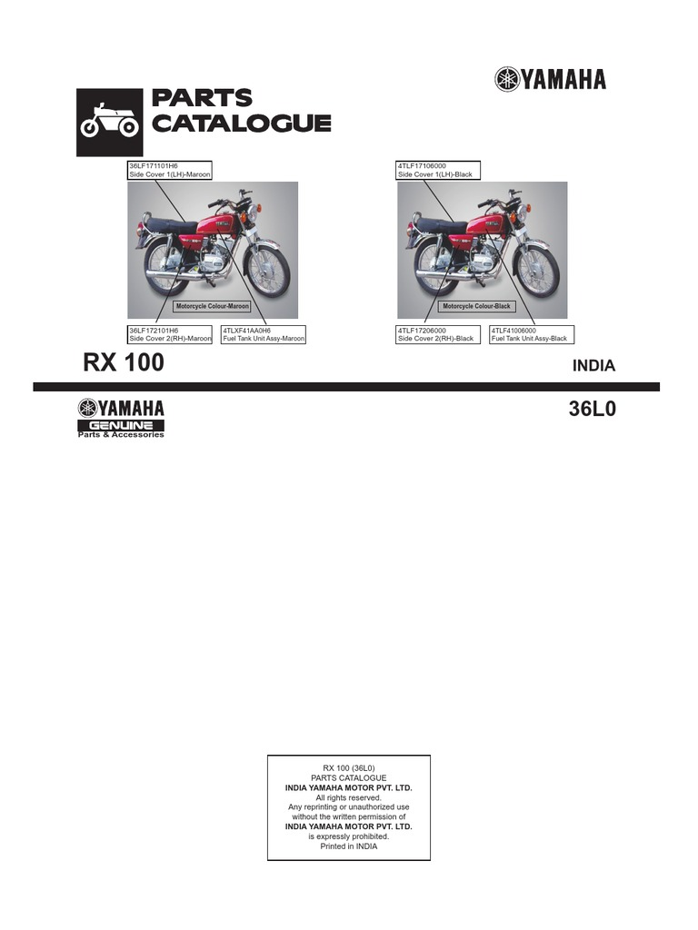 Yamaha rx100 part catalog asfbconference2016 Gallery