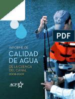 Informe de Calidad de Agua 2008-2009