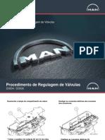 Regulagem Válvulas motor MAN D08