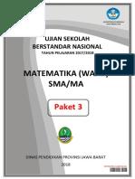 [5]Naskah Soal Usbn Mapel Kur13 Matematika Wajib Paket 3