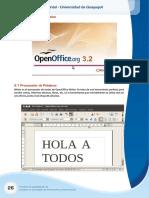 Modulo INF-1 Guia 1.3 Procesador de Palabras Open Office (1ro)