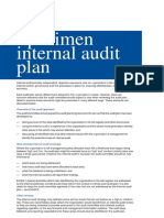 13 Specimen Internal Audit Plan