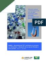 Idoneidad del Uso de PET Reciclado en Contacto con Alimentos (68p).pdf