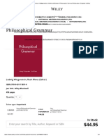 Philosophical Grammar _ Wittgenstein _ Historical Western Philosophy _ General Philosophy _ Subjects _ Wiley