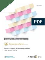 Informe Exportaciones primer semestre 2018 INDEC
