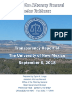 2018 UNM Transparency Report