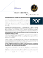2018-08-08 Spanish Press Release - UN SWISSINDO OWNER OF WORLD BANK GROUP INVESTIGATED ON FALSE CHARGES!
