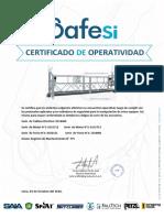 Certificado de Operatividad 2016