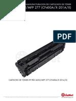 Remanufactura Hp Cf410a Color