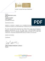 Comunicación a UPTC