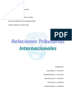 Relaciones Tributarias Internacionales