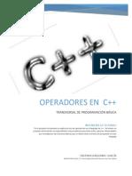 OPERADORES EN  C++