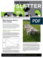 Beef + Lamb NZ - South Otago Farming For Profit Maximising Profit From Sheep Newsletter