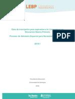 Guía de Inscripción Licenciatura en Educación Básica Primaria 2019-1