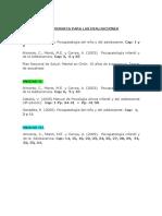 Bibliografia Para Las Evaluaciones