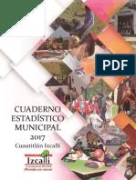 Cuaderno estadístico municipal del EDOMEX 2017