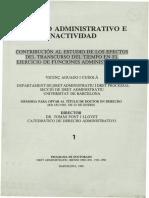 La Inactividad de La Administracion Y El Recurso Contencioso
