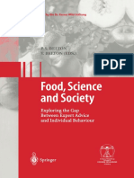 (Gesunde Ernahrung _ Healthy Nutrition) Peter S. Belton (Auth.), Prof. Peter S. Belton, Dr. Teresa Belton (Eds.)-Food, Science and Society_ Exploring the Gap Between Expert Advice and Individual Behav